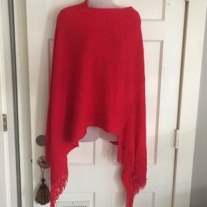 Red Sweater poncho